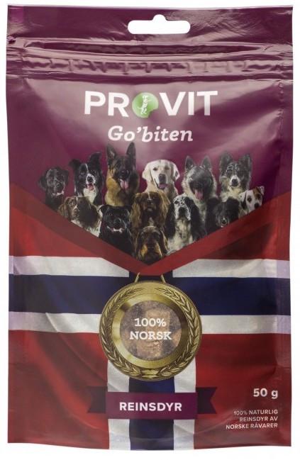 Provit Go´Biten Frysetørket Reinsdyr, Stort Utvalg Treningsgodbiter til Hund
