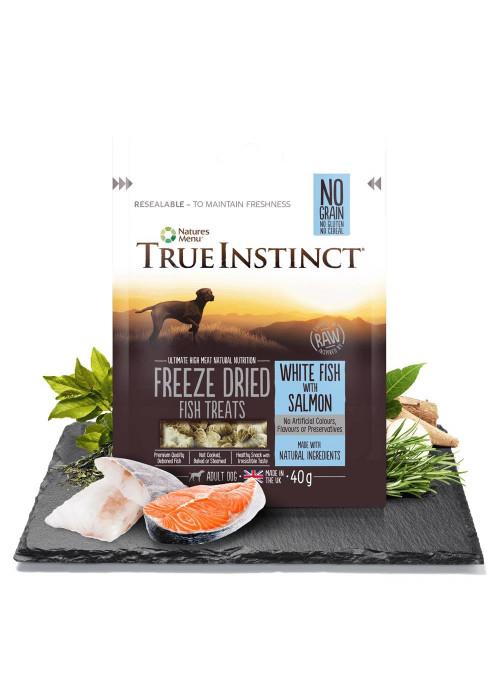 Natures Menu True Instinct - Frysetørket Fisk, Stort Utvalg Treningsgodbiter til Hund