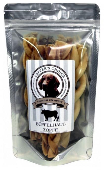 PEPPER´S CHOICE Flettet Bøffelhud, Naturtygg 100% rent