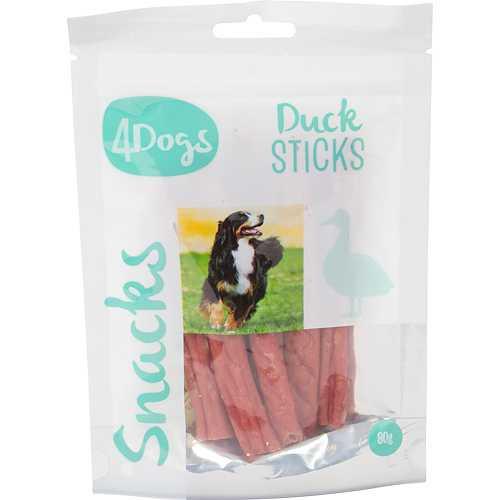 4Dogs Duck Sticks, Stort utvalg Godbiter og Snacks til Hunder