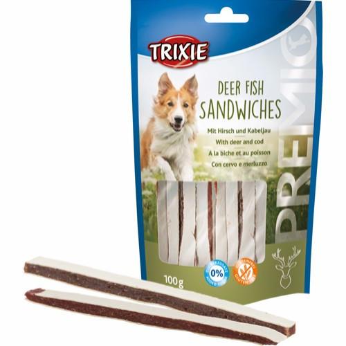 Trixie Sandwich av Rådyr og Fisk, Stort utvalg Godbiter og Snacks til Hunder