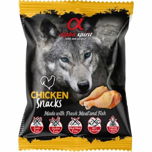 Alpha Spirit Snack Pack  Kylling, Stort Utvalg Treningsgodbiter til Hund