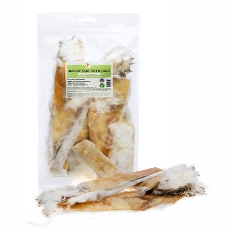 JR Products Kaninhud med pels, Naturtygg 100% rent