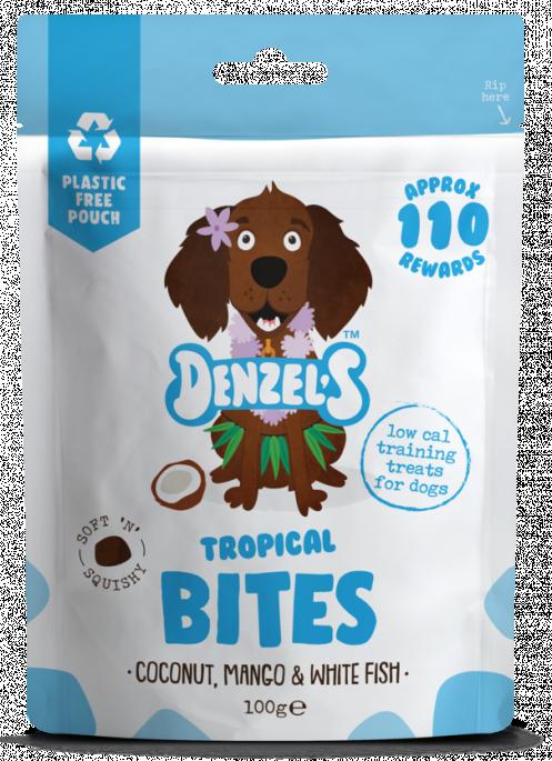 Denzel´s Tropical Bites , Stort Utvalg Treningsgodbiter til Hund
