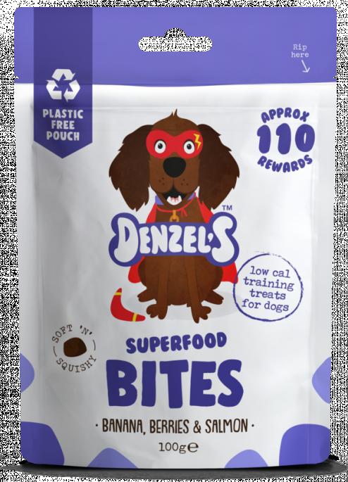 Denzel´s Superfood Bites, Stort Utvalg Treningsgodbiter til Hund