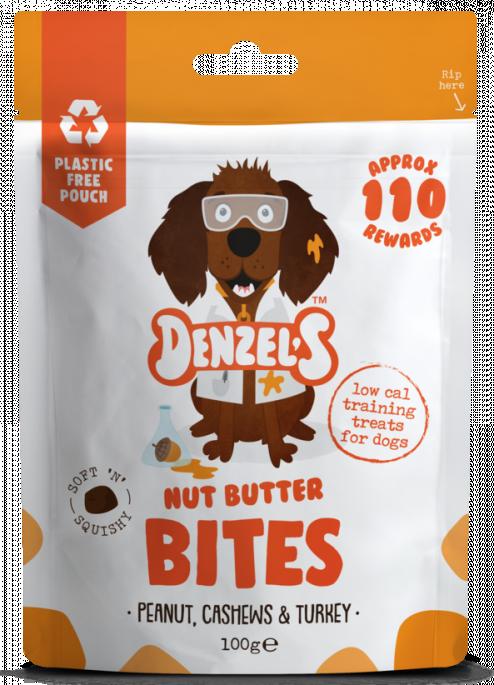 Denzel´s Nut Butter Bites, Stort Utvalg Treningsgodbiter til Hund