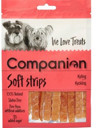 Companion Chicken Strips, Stort utvalg Godbiter og Snacks til Hunder
