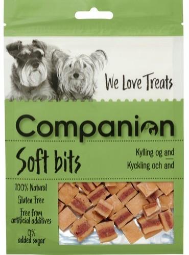 Companion Kylling & Andegodbiter, Stort Utvalg Treningsgodbiter til Hund