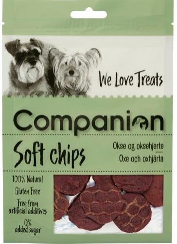 Companion Oksechips, Stort utvalg Godbiter og Snacks til Hunder