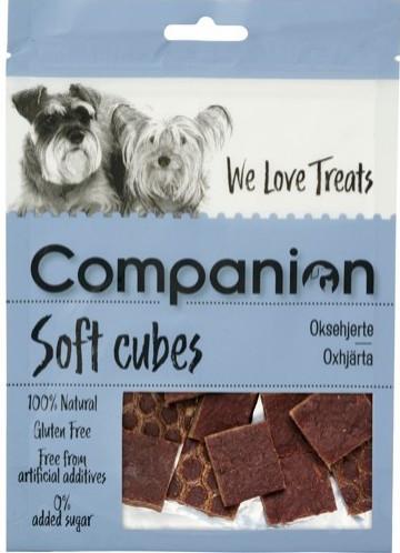 Companion Oksehjerte Cubes, Stort utvalg Godbiter og Snacks til Hunder