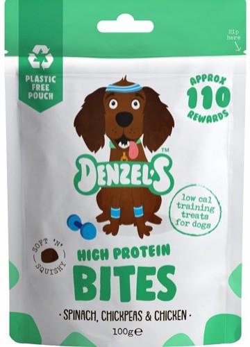 Denzel´s High Protein Bites, Stort Utvalg Treningsgodbiter til Hund